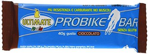 Ultimate Italia Barretta Probike Gusto, Fornisce Energia a Rilascio Immeto e Graduale, Ideale per Ciclisti e Runners - con 24% di Proteine e Vitamine - Non Si Scioglie in Tasca