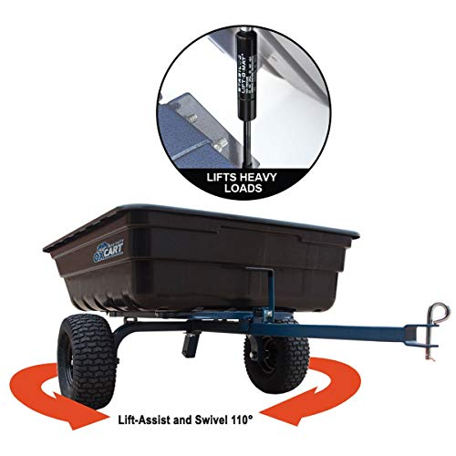 OxCart Lift-Assist & Swivel Dump Cart for Lawn Tractor