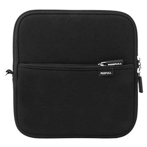 ROOFULL External USB DVD Blu-ray Hard Drive Protective Storage Carrying Sleeve Case Pouch Bag, Compatible for Apple Superdrive, Magic Trackpad, Samsung/ASUS/Dell/LG External DVD Drive, Black