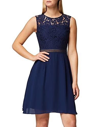 Amazon-Marke: TRUTH & FABLE Damen kleider Jcm-42470, Blau (Blue), 36, Label:S