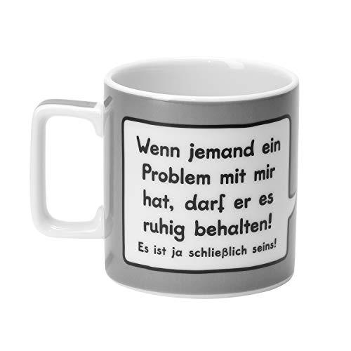 Sheepworld 43282 Sheepworld-Tasse, Wenn jemand ein Problem mit mir hat, darf er es behalten! Es ist ja schließich seins, grau