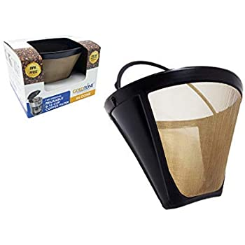 GOLDTONE Reusable No.4 Cone Style KRUPS Reusable Coffee Filter Replaces Your F0494210 Permanent Coffee Filter for KRUPS Machines and Brewers