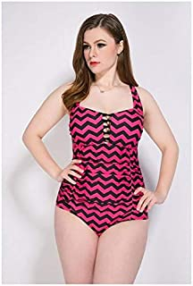 BEESCLOVER Newest Plus Size One Piece Swimsuit Push Up Striped Vintage Monokini Big Chest Ladies Beach Wear Summer Bathing Suits 8862 50