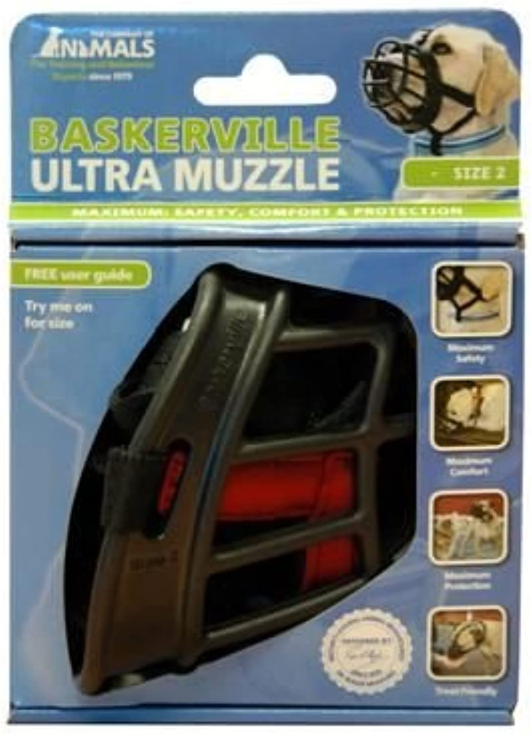 (2 Pack) Co. Of Animals  Baskerville Ultra Muzzle Size 2