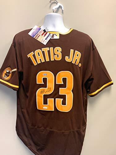 Fernando Tatis Jr San Diego Padres Signed Autograph Nike Jersey Brown JSA Certified