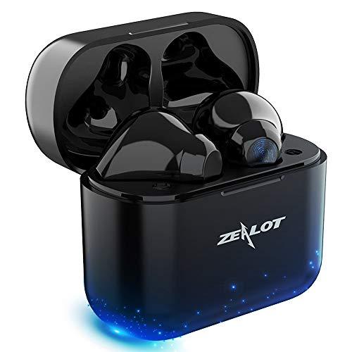 Auriculares Inalambricos Bluetooth con Cancelación Activa De Ruido, 4 Micrófonos, 35 Horas y Carga Rápida USB-C, IPX5 Impermeable Auriculares Inalámbricos para iPhone y Android