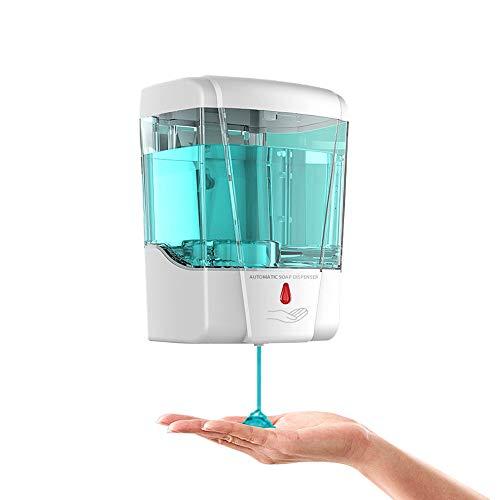 Dispenser automatico di sapone kuyuansu da 700 ml con sensore touchless dispenser di detersivo disinfettante per le mani montato a parete per bagno cucina