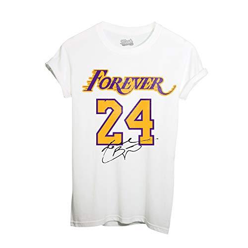 MUSH T Shirt Bianca - Forever 24 Kobe Bryant - Los Angeles Lakers, 7-8 Anni