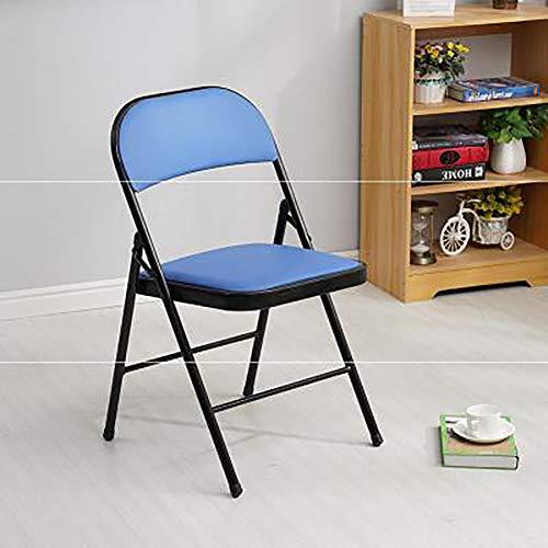 LXJ-KLD Silla Plegable Respaldo Silla de Oficina Simple Conferencia Evento Silla Silla Silla Silla de Formación Informática Alquiler Fila Silla,Azul