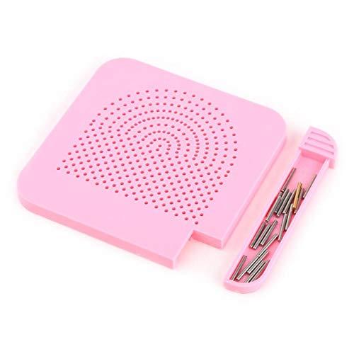 Guía de cuadrícula de Quilter Guía de cuadrícula Herramienta de cuadrícula de papel hecho a mano Herramientas manuales Herramientas de laminación(pink)