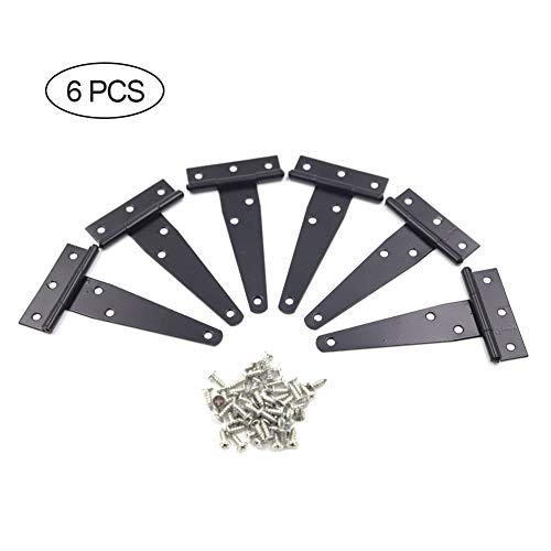 YAONIEO Gate Hinges, T-Strap Shed Hinges Gate Strap Hinges Heavy Duty Rustproof Tee Hinges for Gates Heavy Duty Rustproof Tee Hinges for Gates