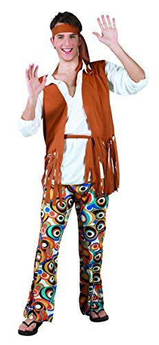 Boland- Hippie Figlio dei Fiori Flower Guy Costume Adulto, Marrone, M/L, 83800