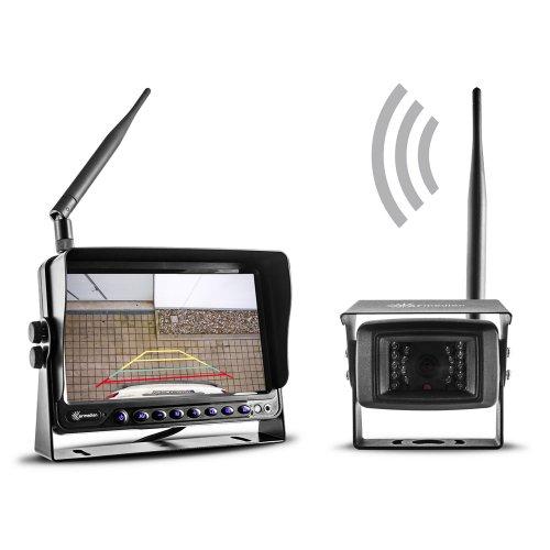 Système d'inversion Radio pour Toutes Les catégories de véhicules Aide au stationnement sans Fil 12V 24V avec Moniteur 7\