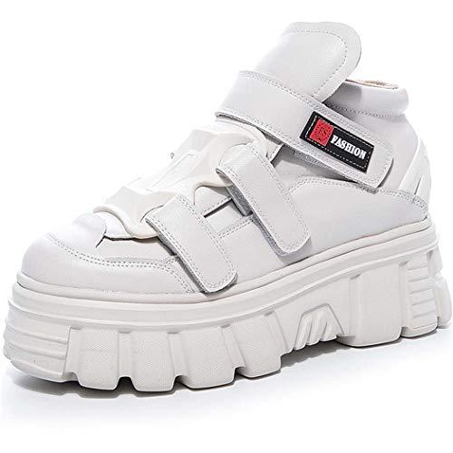 AZLLY Womens sportschoenen Platform Cool Hip-Hop hardloopschoenen klittenband ademende casual Sneakers Punk gotische schoenen voor herfst en winter
