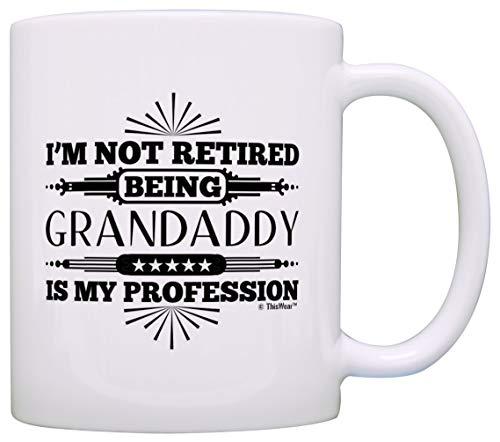Taza Mug TazasRegalo de jubilación No estoy jubilado Ser abuelo es mi profesión 330Ml