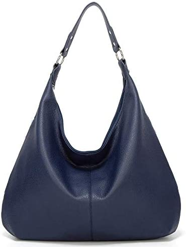 Women Handbag Leather Satchel Purse Handbag Vintage Top Handle Handbag Work Tote Bag (Blue)