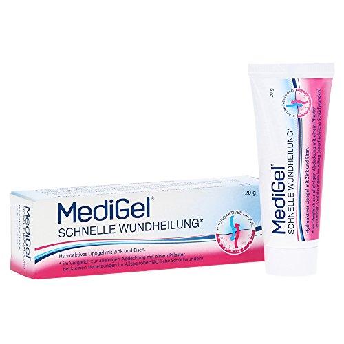MediGel® Schnelle Wundheilung, Spar-Set 3x20g hydroaktives Lipogel. Für alle Wunden im Alltag geeignet. Gut verträglich und für die ganze Familie geeignet.
