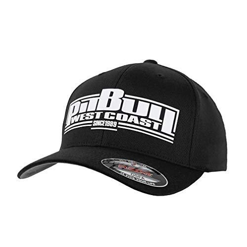 Pit Bull West Coast Full Cap Classic Boxing Schwarz Streetwear Urban PBWC Kappe Base Cap Flexfit (S/M)
