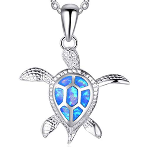 Mom Gifts Sea Turtle Blue Earrings Women Pendant Necklace Health and Longevity Turtle Pendant Necklace Animal Design Jewelry for Girls 17.71 inches