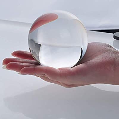New Crystal Ball Sphere Asian Quartz 80mm (3 inches) + Free Wooden Stand