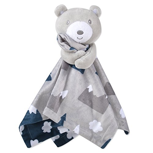 Minky Animal Snuggler Blankets – Animal Loveys for Baby Boys and Girls (Snowcap Bear)