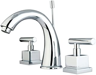 Kingston Brass KS2961CQL Claremont 8-Inch Widespread Lavatory Faucet with Brass Pop-Up, Polished Chrome