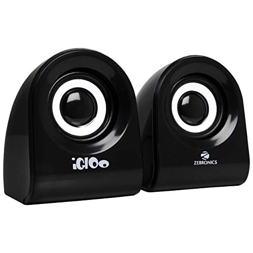 Zebronics Zeb- Igloo 2.0 Multimedia Speaker with Volume Control & USB/3.5mm Jack...
