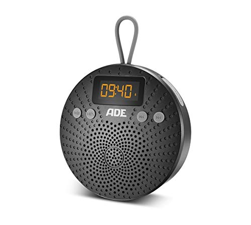 ADE Bluetooth-Lautsprecher BR1703-1 tragbar mit Radio & Wecker – Outdoor Radio und Duschradio mit IPX5-Schutz