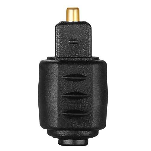 Adaptador de Audio óptico Enchufe Hembra de 3,5 mm a Toslink Macho Macho Enchufe Hembra de 3,5 mm Macho Toslink Digital - Negro