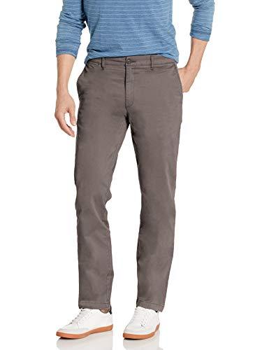 Marca Amazon – Goodthreads – «El pantalón chino perfecto»; pantalón chino de corte entallado, lavado, cómodo y elástico para hombre, gris, 29W / 29L
