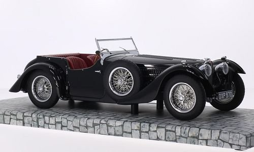 Bugatti Typ 57C Corsica Roadstar, noire, 1938, voiture miniature, Miniature déjà montée, Minichamps 1:18