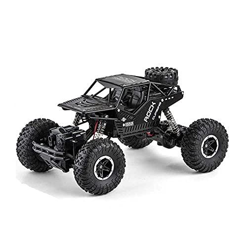 ADSVMEL RC Coche de control remoto eléctrico de aleación con neumáticos reemplazables, 4WD Todos los terrenos juguetes RC Monster Crawler Trucks, 2.4G Carga de escalada fuera de carretera RC Vehículo,