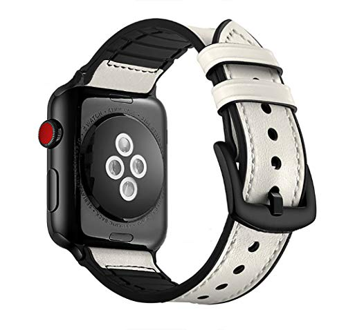 O RLY Correa de Piel Compatible con Apple Watch Band 44mm 42mm para Series 5 4 3 2 1 Genuine Piel de Becerro Suave y Blando