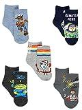 Disney Toy Story 4 Boys Girls Toddler 5 Pack Crew Sock Set (4-6 Toddler (Shoe: 7-10), Grey/Multi)