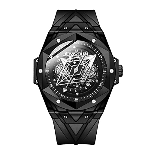 Smartwatches 3 Augen Multifunktionssport wasserdichte Lässige Herrenuhr Nachtmodetrend Leuchtende Uhr, Weiße Schale Schwarzes Gesicht Weißer Text