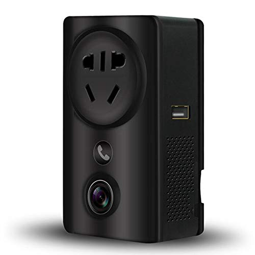 CZWNB Smart-Socket-Kamera 180 ° Weitwinkel-Wireless WiFi Zwei-Wege-Sprach-HD-Überwachung für Kinder