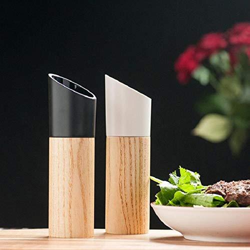 YB-DD 2 pcs Sel et Moulin à Poivre Set, Manuel sel Moulin à Poivre Grinder, Bois Assaisonnement Muller Outils de Cuisine Accessoires de Cuisine Batterie de Cuisine Spice Gadget Milling