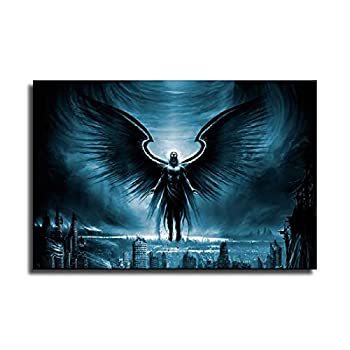 Y&PA Fallen Angel Black Sabbath Wall Art Dark Art Aesthetics Wall Decoration Painting Canvas Print Living Room Bedroom Decoration Painting Wall Art 24×36inch 60×90cm
