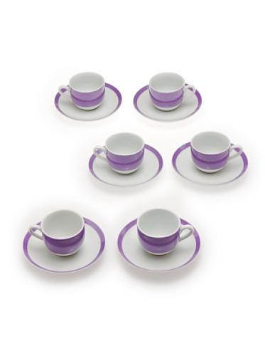 Tognana 6 Tasses à café Olimpia Couleur Violette