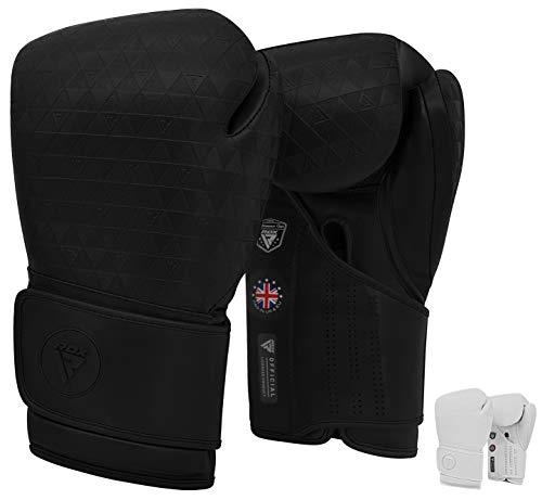 RDX Boxhandschuhe für Training & Muay Thai Gut Punchinghandschuhe für Kickboxen, Kampfsport, MMA, Sparring, Boxsack, Fitness, Sandsack Punching Boxing Gloves (MEHRWEG)