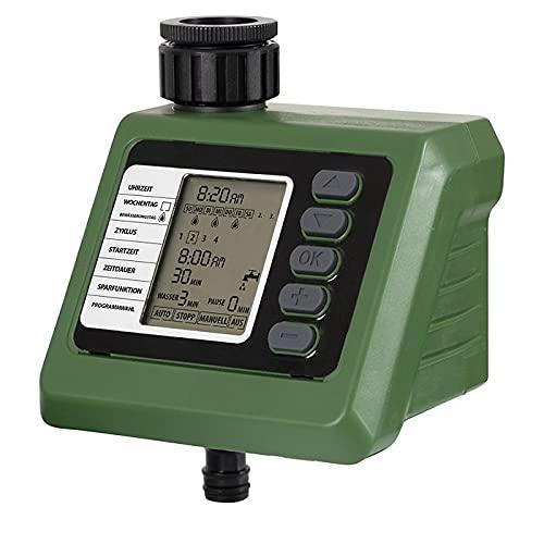 Ferrex Bewässerungscomputer mit Regensensor - integrierte Zeitschaltuhr - Deutsche Menüführung