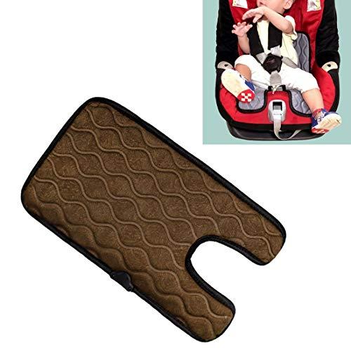 Verwarmde autostoelbekleding sigaret baby-auto-aansteker-stekker-stoelbekleding warm stoelverwarming baby-stoelverwarming pad, afmetingen: 215 x (330 + 130) x8 mm bruin