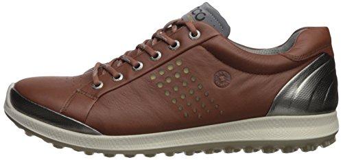 ECCO Men's Biom Hybrid 2 Hydromax Golf Shoe, Mahogany/oyester, 5 M US