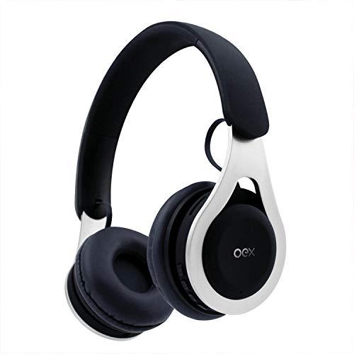 Headset Drop, OEX, HS306, Microfones e fones de ouvido, Preto com Prata