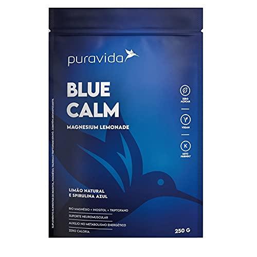 Blue Calm 250g Magnésio+inositol+spirulina Azul - Pura Vida