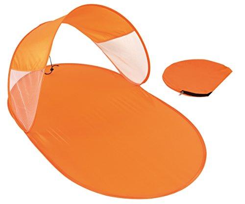 Parasol con esterillo de playa, naranja, 120x 65cm