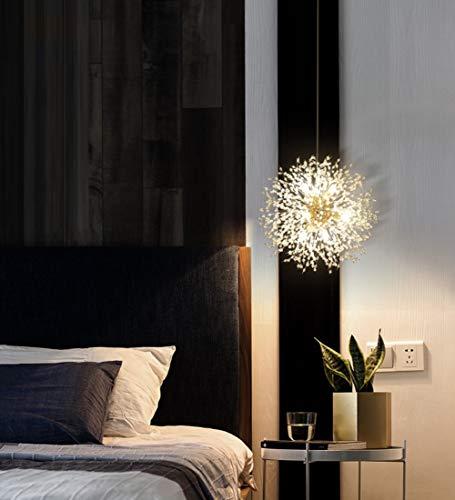 Dellemade Sputnik Kronleuchter 8-Licht Golden Luxuriöse Pendelleuchte für Schlafzimmer, Wohnzimmer, Esszimmer - 2