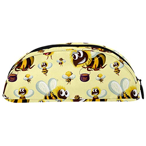 Shiiny Estuche de lápices con diseño de abejas de insectos y lápiz, estuche de cosméticos y bolsa de viaje, bolsa de papelería, regalo de cumpleaños escolar