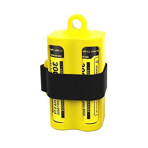 Preisvergleich Produktbild Batteriemagazin NBM40 Gelb für 1-4 Li-ion 18650 Akkus oder E-Liquid-Fläschen und Verdampfer