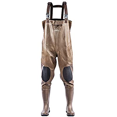 Amazon - Save 15%: WeaArco Chest waders for men with boots Waterproof Rubber Bootsfoot adjusta…